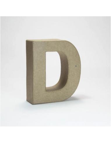 Letra de Cartón Craft Pequeña - D