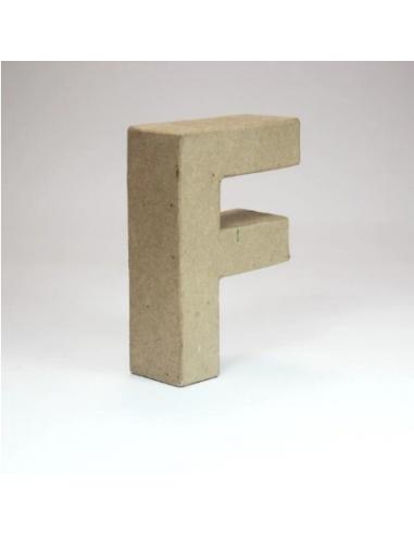 Letra de Cartón Craft Pequeña - F