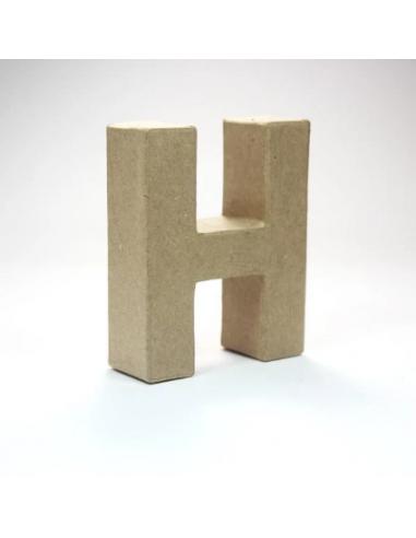 Letra de Cartón Craft Pequeña - H