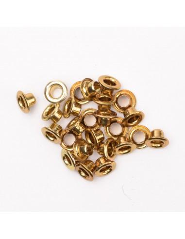 Eyelets x25 metallic brass