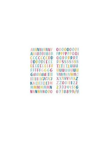 Alfabeto chipboard Summer Stories