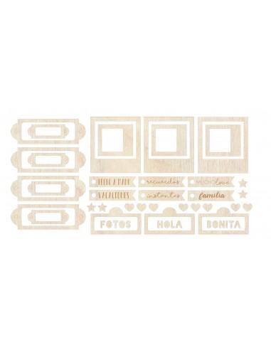 Set de maderitas Etiquetas