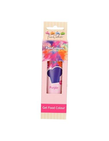 FunCakes Edible FunColours Gel - Purple 30g