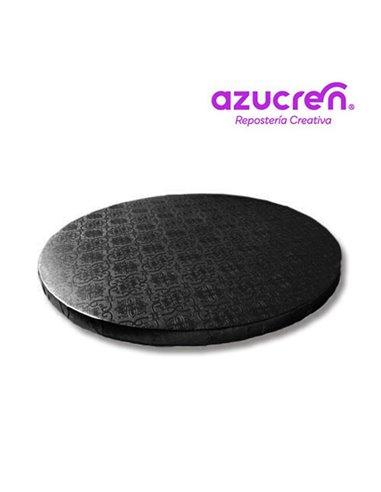 Azucren base negra redonda 25 cm x 12 cm altura