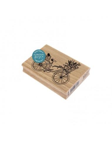 Sello de madera Profiter à Vélo -...
