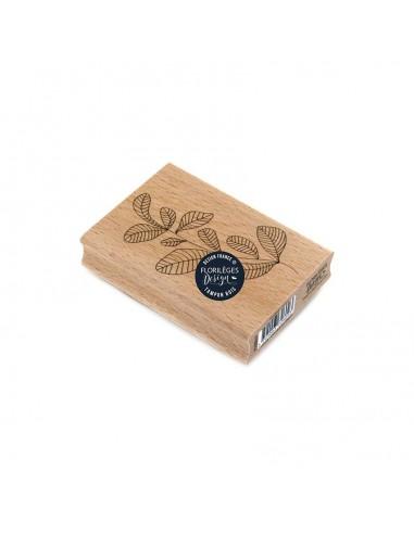 Sello de madera Feuillage Courbé -...