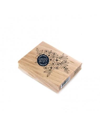 Sello de madera Tapis de Fleurs -...