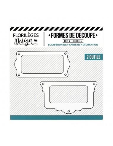 Troquel PORTE-ÉTIQUETTES FESTONNÉS