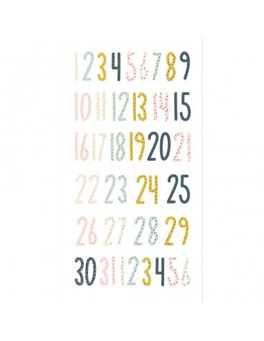 Números de chipboard Muérdago