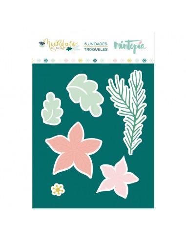 Troquel Flor de Pascua - Muérdago